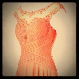 "Azazie Watermelon Pink ""Mother of Bride"" Dress"